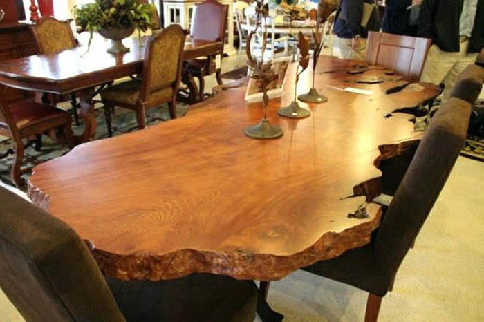 4. Natural Wood Dining Table In The Best Solid Furniture Intended With Regard To Famous Solid Wood Dining Tables (Gallery 16 of 20)
