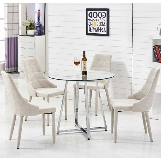 4 Optimal Choices In Glass Dining Table And Chairs – Blogbeen Pertaining To Widely Used Glass Dining Tables And Chairs (View 3 of 20)