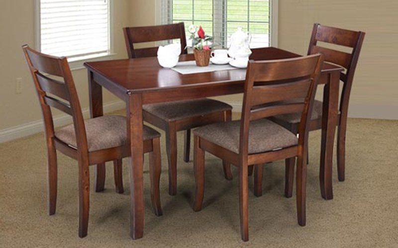 4 Seat Dining Tables Pertaining To 2017 Buy Royaloak Apex 4 Seater Solidwood Dining Set With Cushioned (View 19 of 20)