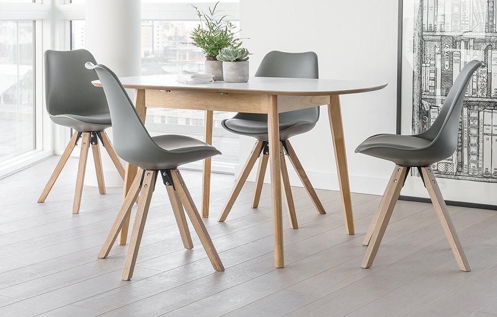 4 Seater Dining Set – Grey – Home Furniture – Out & Out Original Pertaining To Most Recent 4 Seater Extendable Dining Tables (View 2 of 20)
