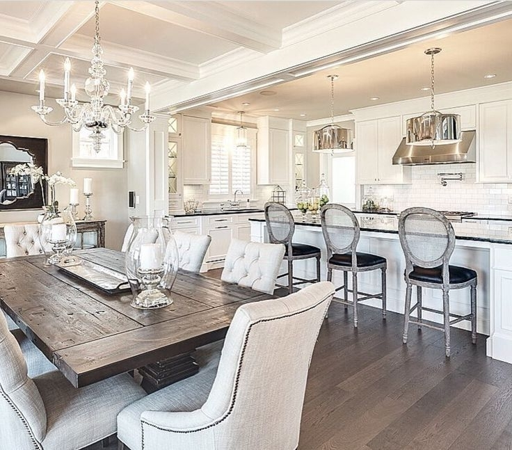 41 Best Sarah's Interior Design Style & Ideas Images On Pinterest Within Well Known Bale Rustic Grey 7 Piece Dining Sets With Pearson White Side Chairs (View 15 of 20)