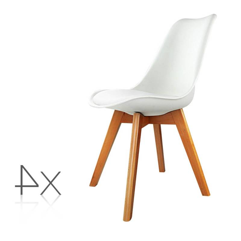 4x Replica Eames Pu Leather Dining Chairs In White Buy 8 Chair Intended For Fashionable Perth White Dining Chairs (View 11 of 20)