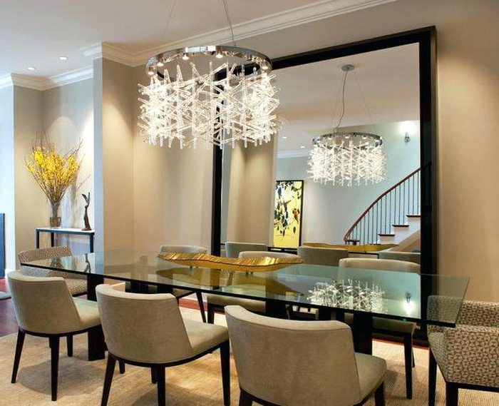 5. Elegant Dining Room With Chandelier For Modern Crystal Dining Throughout Recent Crystal Dining Tables (Gallery 18 of 20)