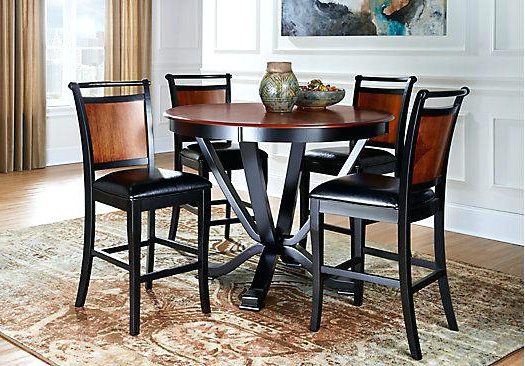 5 Pc Counter Height Dining Set Piece In Two Tone White And Oak With Regard To Popular Jensen 5 Piece Counter Sets (View 9 of 20)