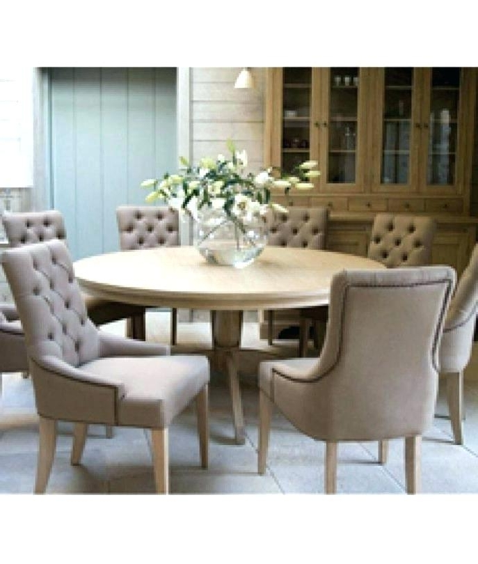 6 Chair Dining Table Sets Inside Recent 60 Inch Round Dining Table With 6 Chairs Rustic Round Dining Table (View 6 of 20)