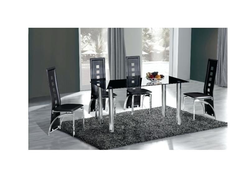 6 Chairs And Dining Tables With Recent Black Glass Dining Table And 6 Chairs – Kuchniauani (View 20 of 20)