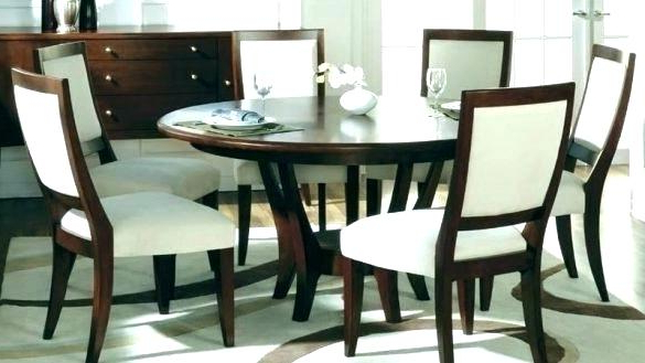 6 Seat Dining Table Cool Round Dining Table For 6 White Glass Chrome In Fashionable Round 6 Seater Dining Tables (Gallery 14 of 20)