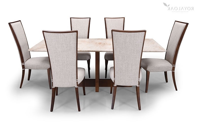 6 Seat Dining Table Sets Throughout Current Buy Royaloak Jaguar 6 Seater Dining Set With Cushioned Chairs And (View 5 of 20)