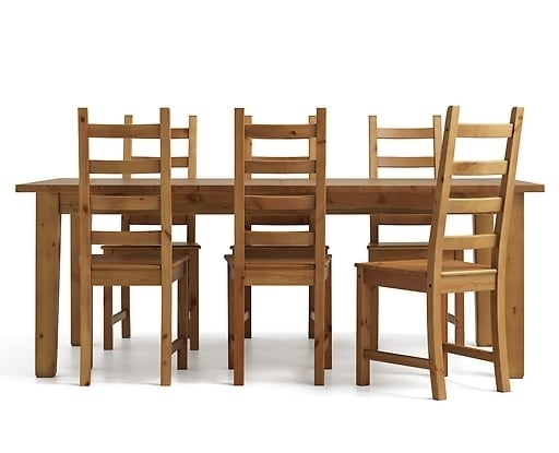 6 Seater Dining Table & Chairs (View 4 of 20)