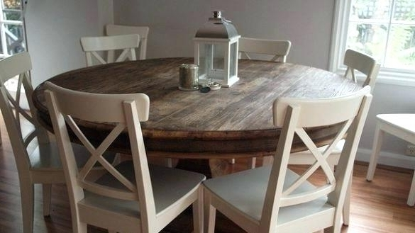 6 Seater Round Dining Table And Chairs Stylish For On Glass With Regarding Favorite 6 Person Round Dining Tables (View 9 of 20)