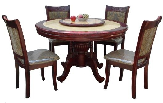 6 Seater Round Dining Table – Lorenz Furniture Regarding Most Up To Date 6 Seater Round Dining Tables (View 3 of 20)