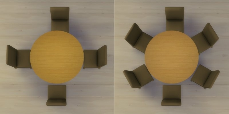 6 Seater Round Dining Tables With Recent Mod The Sims – Modern 6 Seater And 8 Seater Round Dining Table And (View 5 of 20)