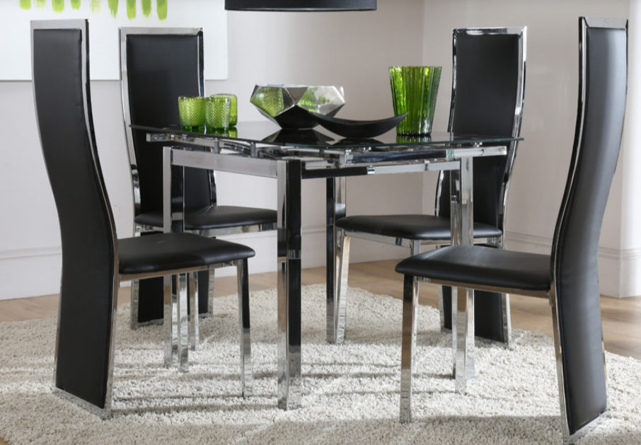 7 Contemporary Glass Square Dining Tables – Cute Furniture Uk Intended For Fashionable Square Black Glass Dining Tables (View 6 of 20)