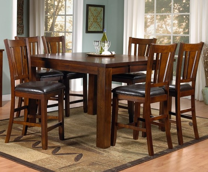 7. Leon 7 Piece Dining Set With Medium Dining Table Pertaining To Well Liked Leon 7 Piece Dining Sets (Gallery 3 of 20)