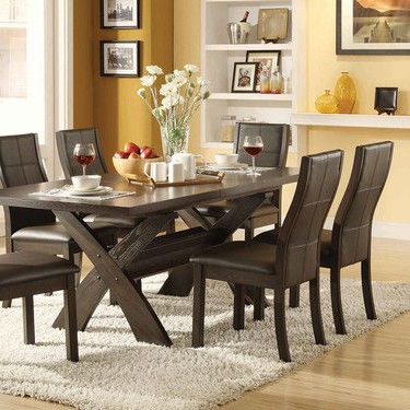 7 Piece Dining Set, Bayside Furnishings Xenia $700 At Costco With Regard To Best And Newest Jaxon 7 Piece Rectangle Dining Sets With Upholstered Chairs (View 5 of 20)