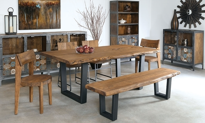 79 Inch Live Edge Solid Acacia Dining Table (View 3 of 20)
