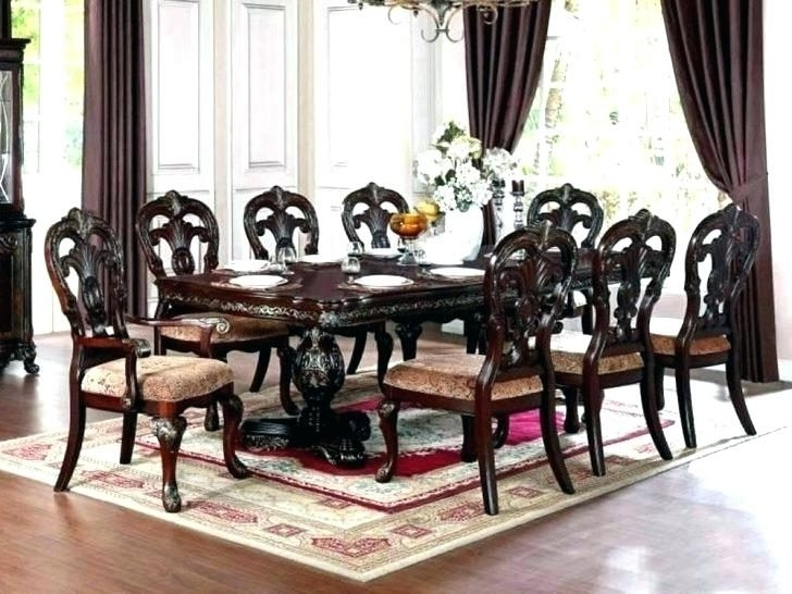 8 Chairs Dining Sets Throughout Widely Used 8 Chair Dining Room Set Oak Extending Table With Slate Chairs Seat (View 13 of 20)