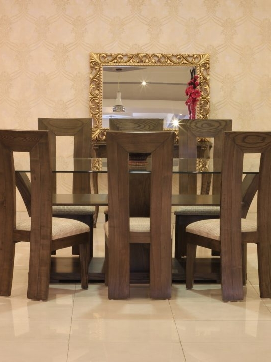 8 Chairs Dining Tables With Newest Violet Dining Table Set With 8 Chairs (Ash Wood) (View 18 of 20)