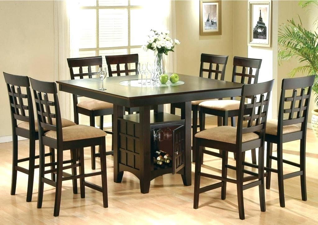 8 Chairs Dining Tables With Regard To Most Popular Dining Table And 8 Chairs Set Marvelous 8 Chair Dining Table Set Pub (Gallery 12 of 20)