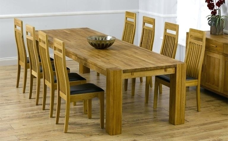 8 Chairs Dining Tables Within 2018 8 Seater Round Dining Table And Chairs 8 Chair Dining Table Sets (View 19 of 20)