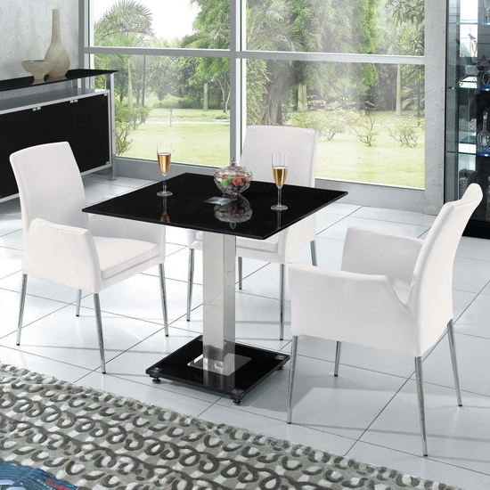 8 Ideas On Choosing Dining Chairs For Glass Table Inside Latest Square Black Glass Dining Tables (Gallery 9 of 20)