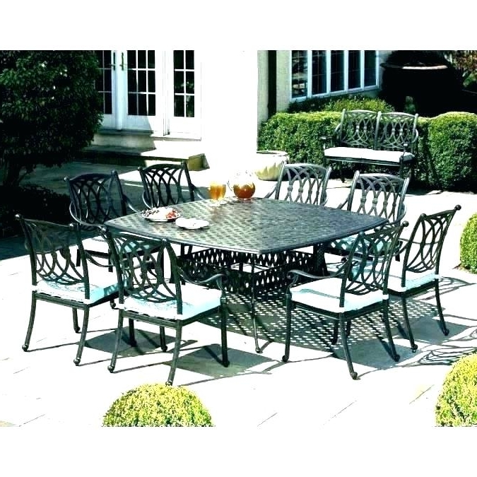 8 Person Dining Set Round Outdoor Dining Sets For 6 8 Person Patio Pertaining To Trendy 8 Seat Outdoor Dining Tables (Gallery 3 of 20)
