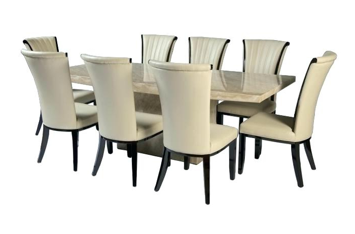 8 Seat Dining Table 8 Dining Table Chairs Chairs Flower Dining Room Intended For 2018 Dining Tables With 8 Chairs (View 2 of 20)