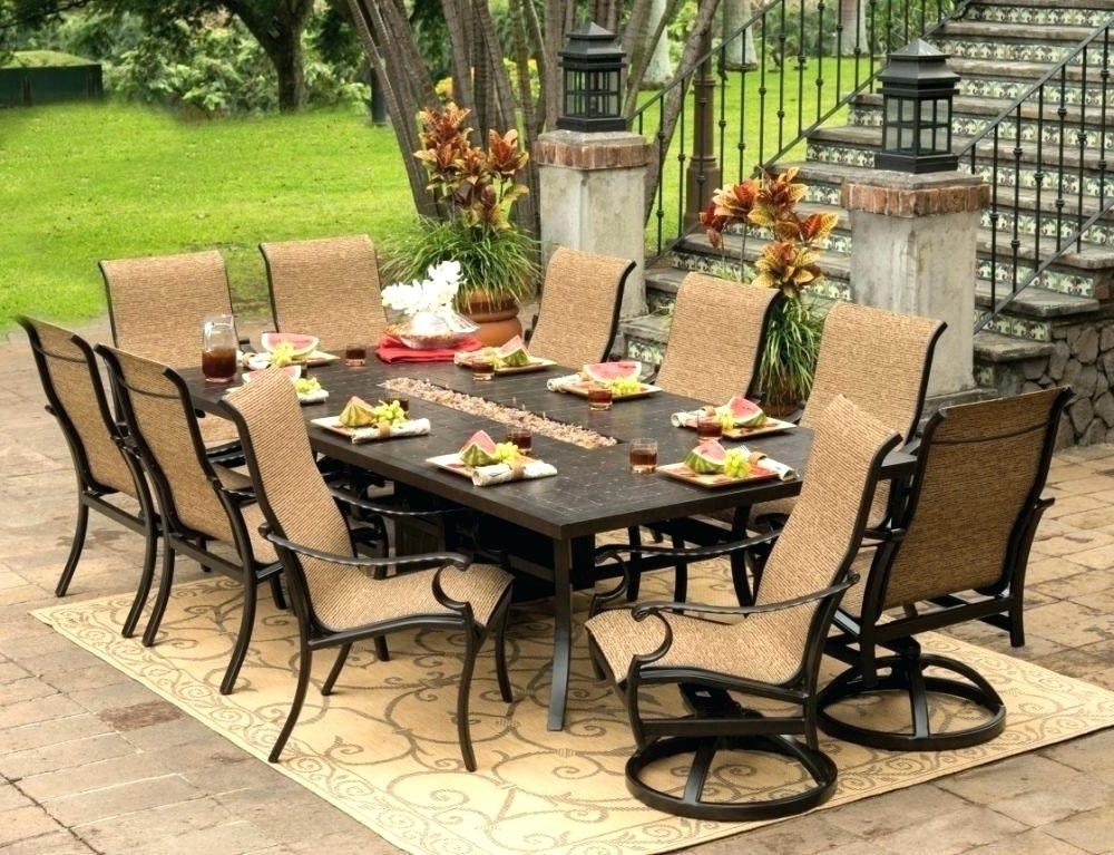 8 Seat Outdoor Dining Tables Regarding Most Recent 8 Seat Outdoor Dining Set – Sportsdaily.club (Gallery 11 of 20)