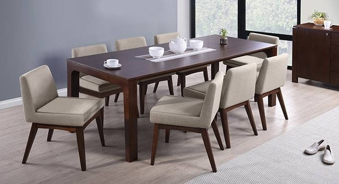 8 Seater Black Dining Tables Regarding Well Known Advantages Of Buying Round Dining Table Set For 8 – Home Decor Ideas (View 3 of 20)