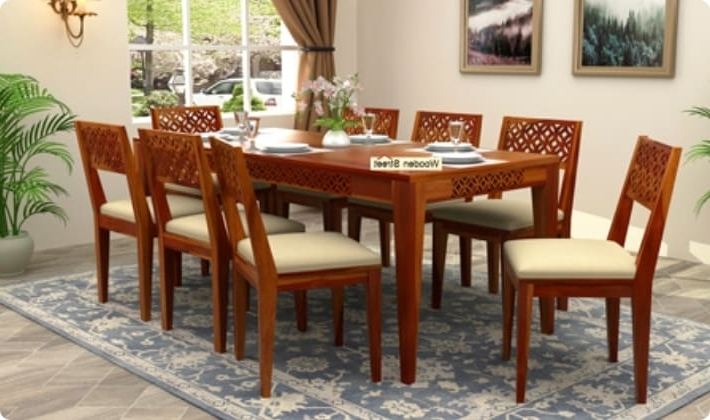 8 Seater Dining Table Sets Pertaining To Well Known Dining Table Sets: Buy Wooden Dining Table Set Online @ Low Price (View 7 of 20)