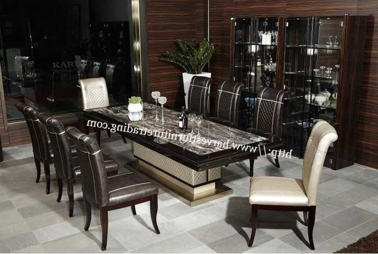 8 Seater Dining Tables For Favorite White Dining Room Table Seats 8 8 Person Dining Table White Marble (View 2 of 20)