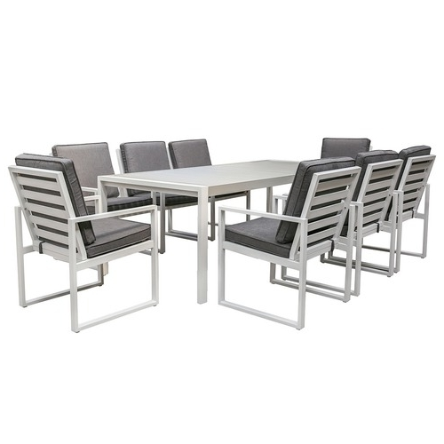 8 Seater Manly Outdoor Dining Table & Chair Set (View 9 of 20)