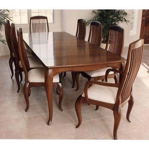 8 Seater Wooden Dining Table Set, Dining Table Set – Craft Creations Within 2017 8 Seater Black Dining Tables (Gallery 7 of 20)