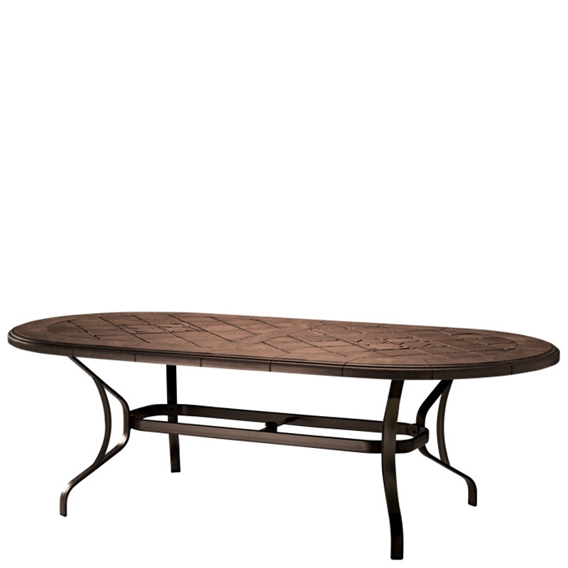 87 Inch Dining Tables For Best And Newest Tropitone 500084Swb Montreux Kd Dining Table Base For 87 Inch X (View 15 of 20)