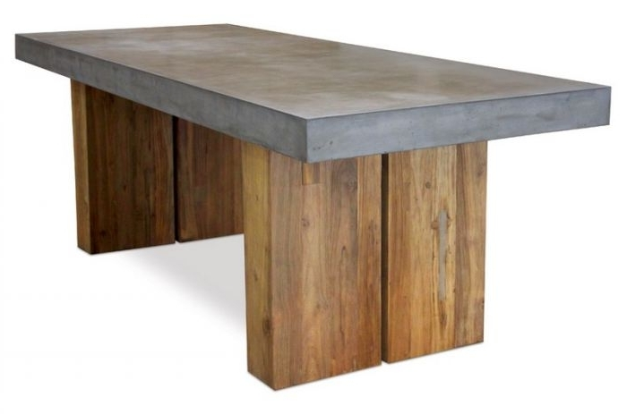 """87 Inch Dining Tables For Fashionable 501Ft040P2G Perpetual 87"""" Teak Olympus Dining Table With Reclaimed Base (Gallery 19 of 20)"""