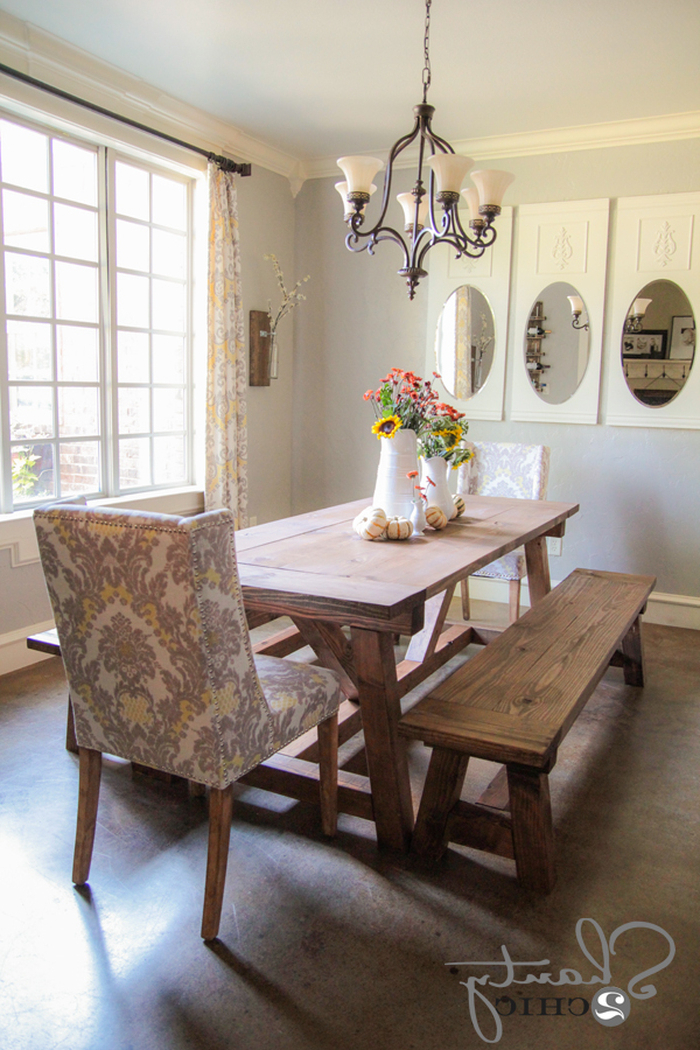 9. Dining Room Table And Bench Seating Dining Table And Chairs With Inside Best And Newest Dining Tables And 2 Benches (Gallery 9 of 20)