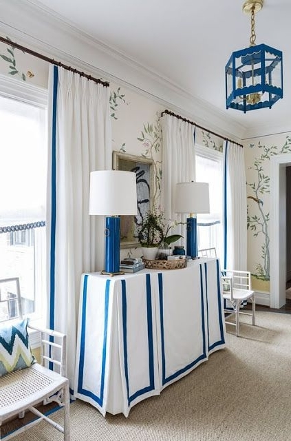 960 Best Blue And White Forever Imagesmecox Gardens On Pinterest Throughout Current Garten Delft Skirted Side Chairs Set Of (View 5 of 20)