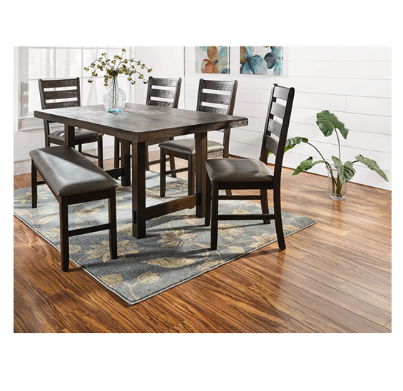 A Bench Provides Flexible Seating At Your Dining Table! #shopko With Regard To Newest Valencia 5 Piece Counter Sets With Counterstool (View 18 of 20)