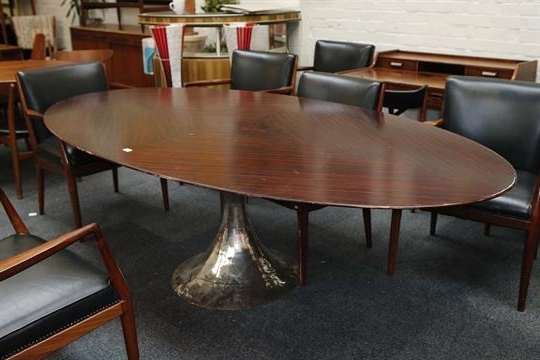 A Julian Chichester Dakota Dining Table, 21st Century, Elliptical For Well Known Chichester Dining Tables (View 15 of 20)