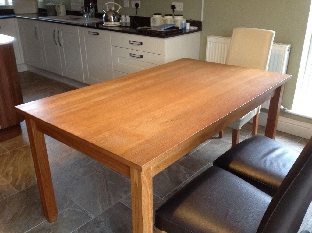 A Next 6 Seater Dining Table Called The Hudson Solid Oak Sturdy For Well Liked Next Hudson Dining Tables (View 2 of 20)