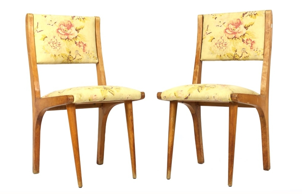 A Pair Of Scandinavian Designed Beechwood Side Chairs, Mid 20Th In Popular Omni Side Chairs (View 2 of 20)