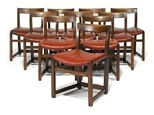 A Set Of 10 Side Chairs With Smoked Oak Framemogens Lassen On Artnet For Well Liked Lassen Side Chairs (View 18 of 20)
