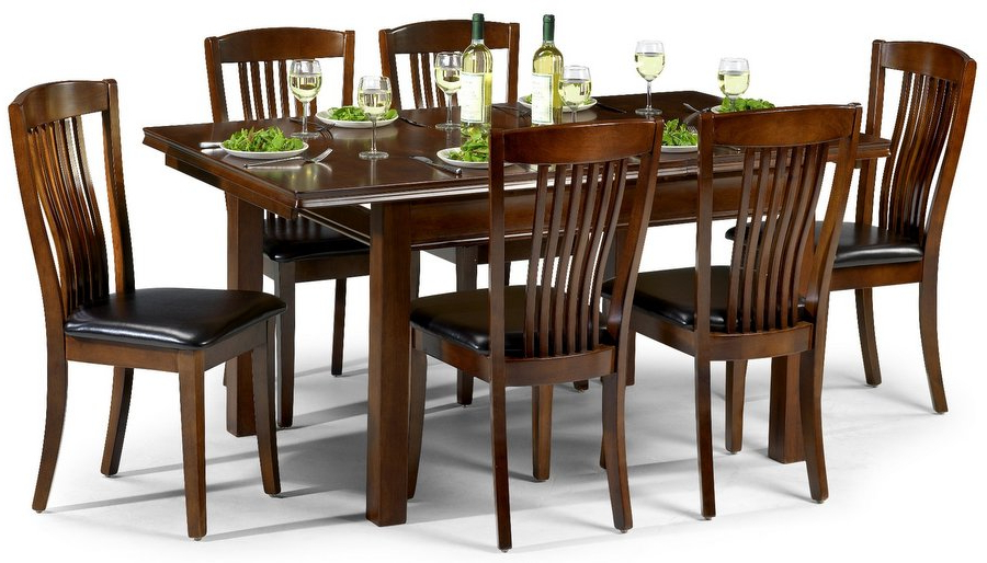 Abdabs Furniture – Canterbury Mahogany Dining Table & Six Chairs For Popular Mahogany Dining Table Sets (View 1 of 20)