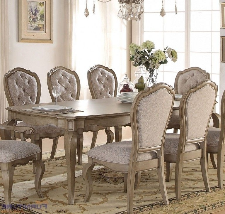 Acme Furniture – Chelmsford Antique Taupe Dining Table Two Leaves Intended For Trendy Caira 9 Piece Extension Dining Sets (View 18 of 20)