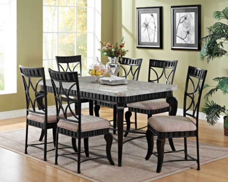 Acme Furniture – Lorencia 7 Piece Rectangle Dining Table Set – 70294 With Regard To Well Known Jaxon 7 Piece Rectangle Dining Sets With Upholstered Chairs (View 3 of 20)