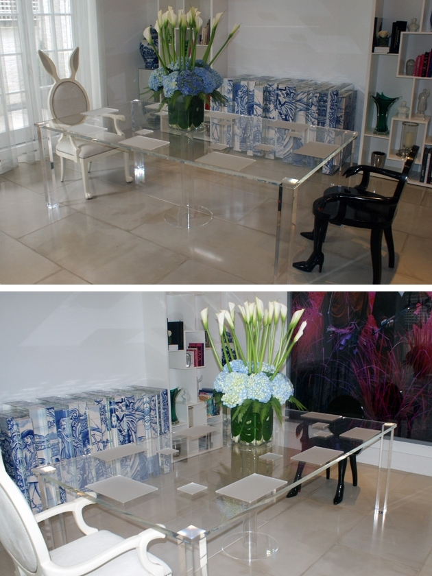 Acrylic Dining Tables Intended For Latest Perspex Fabrication And Acrylic Fabrication – Perspex Furniture (Gallery 17 of 20)