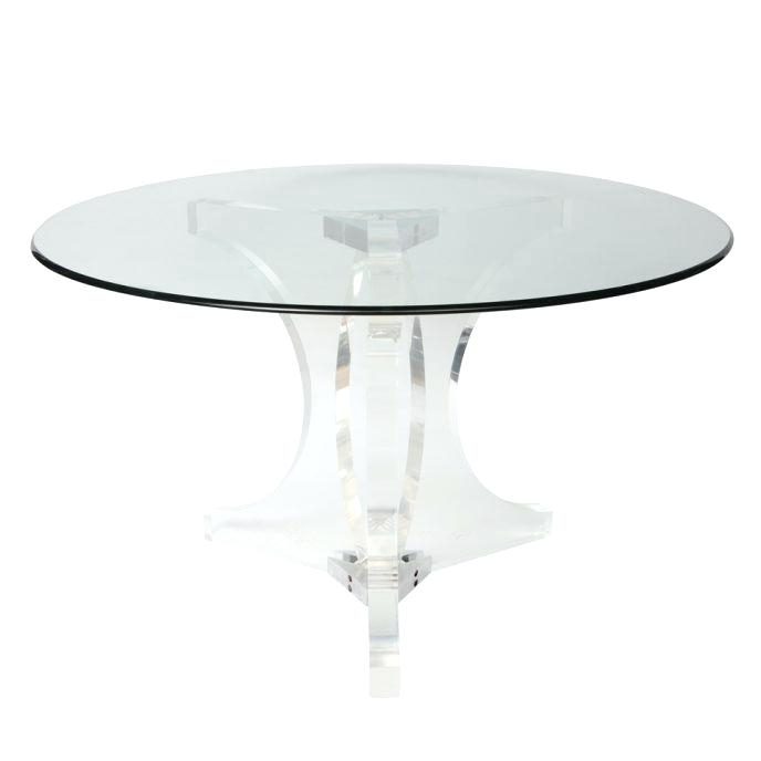Acrylic Round Dining Table Table With Acrylic Cubes Dining Tables Inside Most Current Round Acrylic Dining Tables (View 10 of 20)