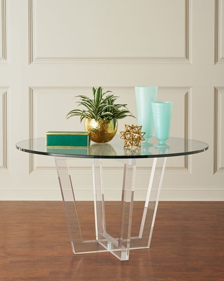 Acrylic Round Dining Tables With Regard To Latest Interlude Home Lovey Acrylic Round Dining Table (View 14 of 20)