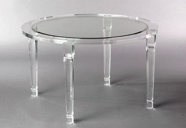 Acrylic Round Dining Tables Within Most Popular More Acrylic Furniture Finds For A Sleek Style (Gallery 1 of 20)