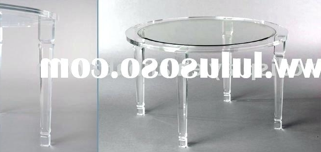 Acrylic Round Dining Tables Within Trendy Acrylic Round Dining Table Table With Acrylic Cubes Dining Tables (Gallery 15 of 20)